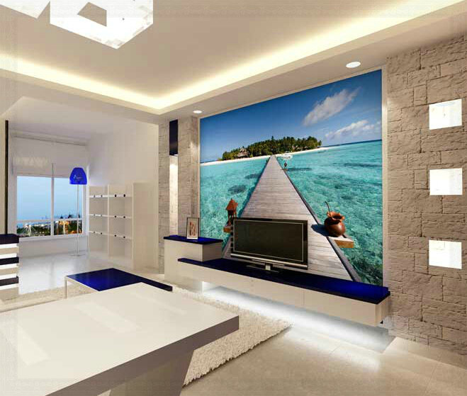 Aliexpress com   Buy The sea beach beautiful scenery television background  wallpaper the living room sofa bedroom large murals 3d wallpaper from  Reliable. Aliexpress com   Buy The sea beach beautiful scenery television