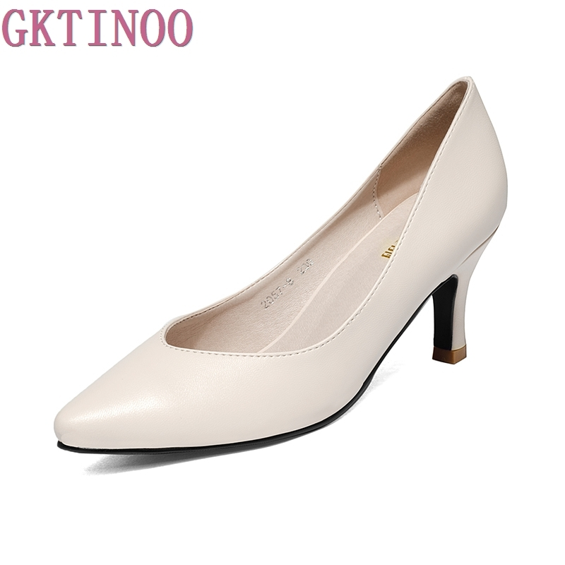 Spring And Autumn Woman High Heels Women Pumps Thin Heels Women's Shoes Pointed Toe Leather Work shoes Plus Size 34-43 plus size 34 49 new spring summer women wedges shoes pointed toe work shoes women pumps high heels ladies casual dress pumps