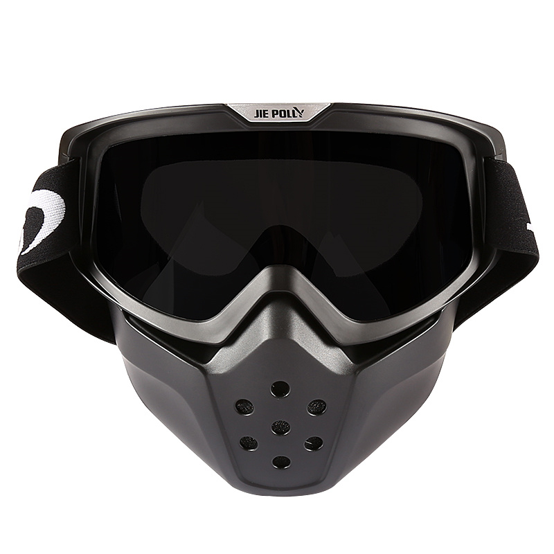 Motorcycle Goggles Sport Racing Off Detachable Goggles And Mouth Filter Perfect for Open Face Motorcycle Half Helmet or Vintage fox racing youth main goggles roll off kit