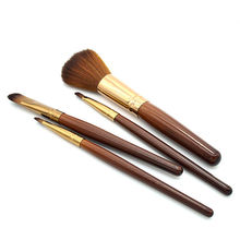 4Pc/Set Professional Soft Women Wooden Handle Makeup Eyeshadow Blush Face Foundation Power Brushes Kits