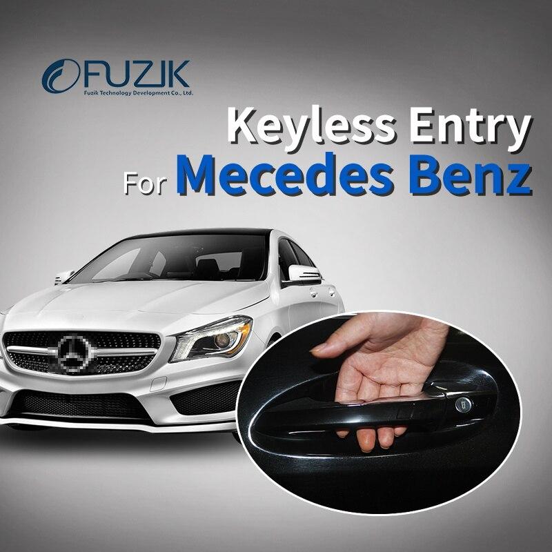 Fuzik keyless entry Chave Inteligente com oem porta lidar com oem conforto módulo de acesso janela roll up para Mercedes Benz classe c s glc