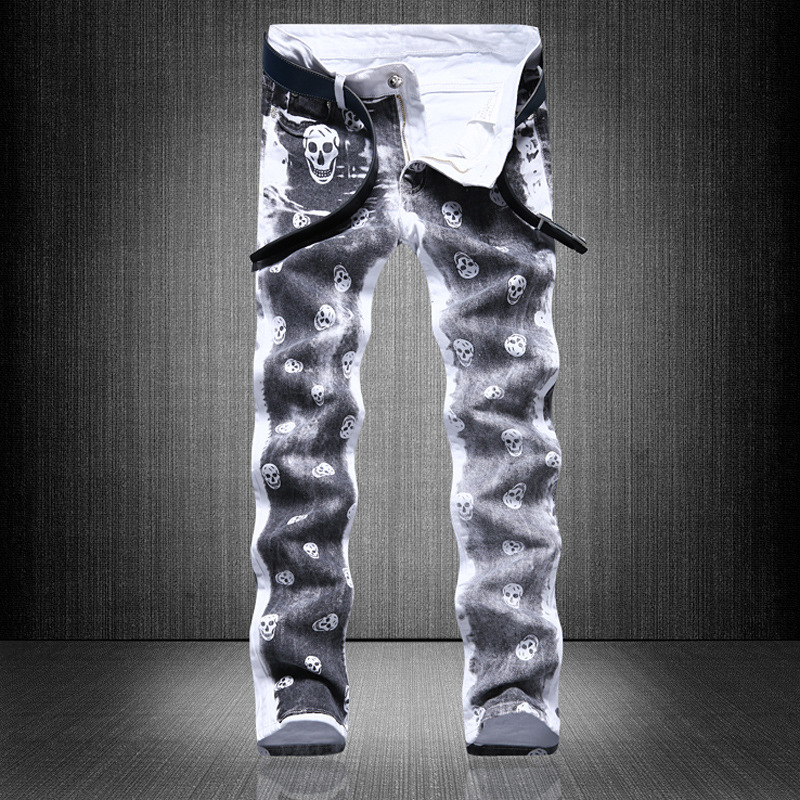 new 2018 source printed trousers mens self-cultivation youth long pants fashion pants night clubs pants 590