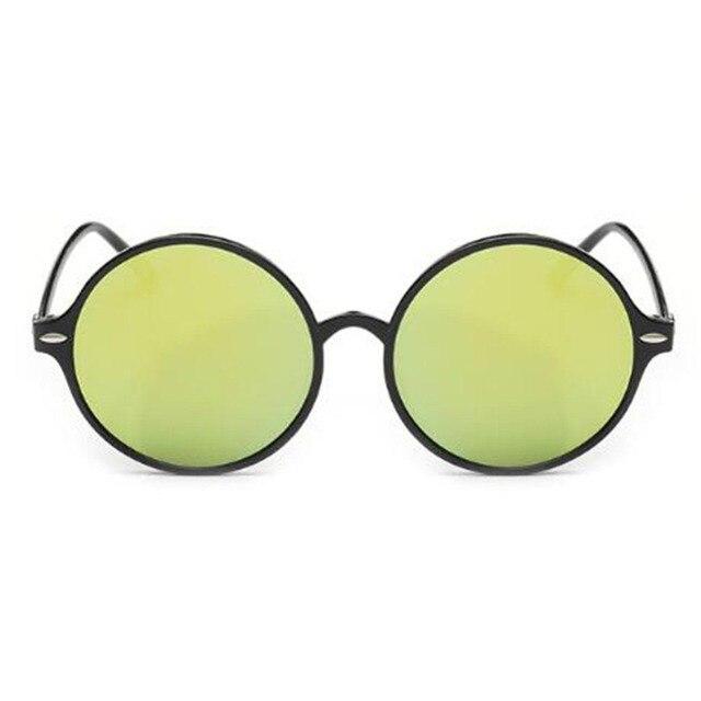 2017 circular grande Marcos Remaches Gafas de sol colorido Objetivos ...