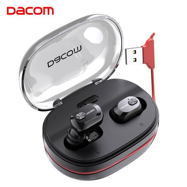 Dacom K6H Pro 무선 헤드폰 TWS 진정한 무선 이어 버드 이어 버드 전화 블루투스 이어폰 5.0 미니 헤드셋 PK i12 i10 tws