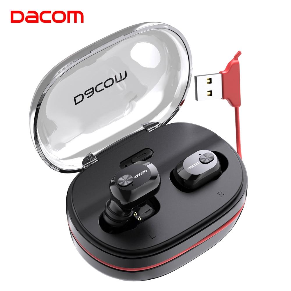 Dacom K6H Pro Wireless Headphones TWS True Wireless Earbuds Ear Buds Phone Bluetooth Earphone 5.0 Mini Headset PK I12 I10 Tws