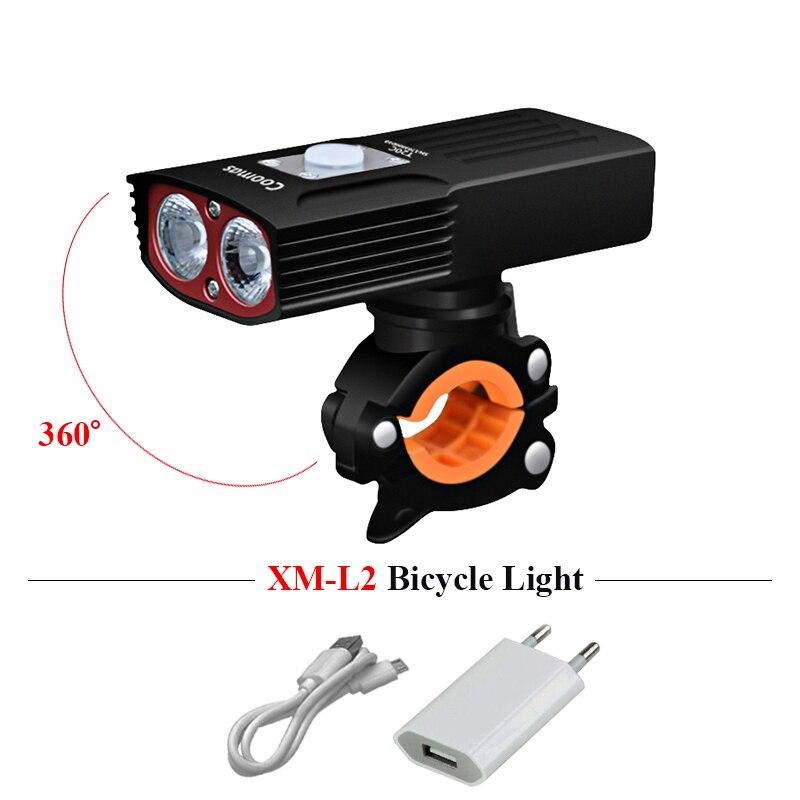 Светильник вспышка для велосипеда с usb зарядкой XM L2, велосипедный светильник для езды на велосипеде, Головной фонарь, водонепроницаемый вел...