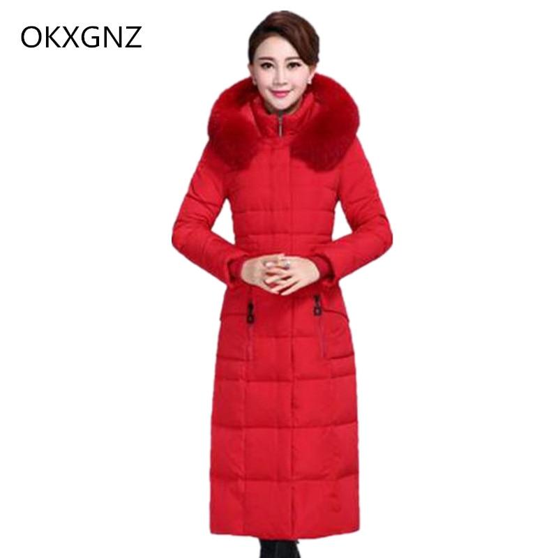 OKXGNZ Women Coat 2017 South Korea New Winter Fashion Leisure Big Yards Women Coat Pure Color
