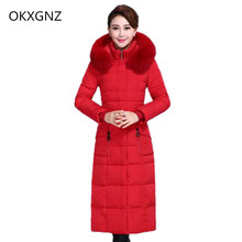 OKXGNZ Women Coat 2017 South Korea New Winter Fashion Leisure Big Yards Women Coat Pure Color Thicken Cotton  Jacket Coat QQ75