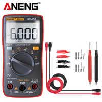 Multímetro Digital probador de condensadores AN8001 profesional 6000 cuentas medidor esr medidor ricmetros pinza de corriente de voltaje be true leads