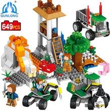 Qunlong Minecraft Volcanic Exploration Mine Building Blocks Toys For Children Christmas Gift Compatible Legoe Minecraft Blocks