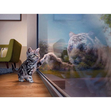 Kitten and tiger diamond Embroidery diy painting mosaic diamant 3d cross stitch pictures H637