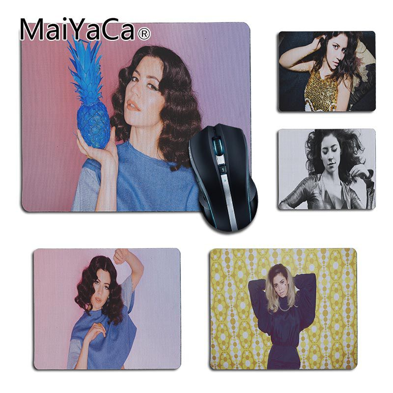 MaiYaCa New Designs Marina And The Diamonds Herat Comfort small Mouse Mat Gaming Mouse pad Size 25x29cm 18x22cm Rubber Mousemats