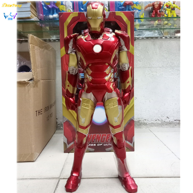 NECA Avengers Iron Man 18 inches Tony MARK MK7 Red Iron Man PVC action figure Collectible Model doll iron-man Toy with box neca the texas chainsaw massacre pvc action figure collectible model toy 18cm 7 kt3703