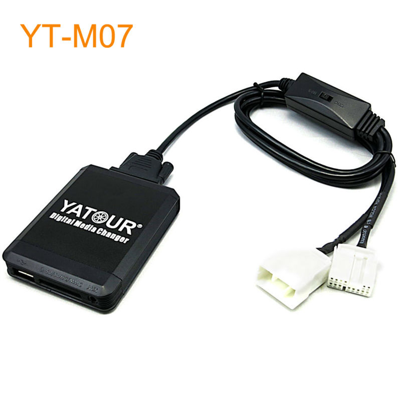 Yatour M07 Car MP3 USB SD CD Changer for iPod AUX with Optional Bluetooth for Honda for Acura yatour car mp3 usb sd cd changer for ipod aux with optional bluetooth for toyota carina celica coaster highlander land cruiser