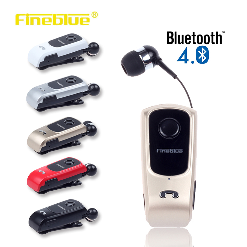 FineBlue F920 Wireless Bluetooth Earbuds Headset In-Ear Earphones Headsets Support Calls Remind Vibration With Collar Clip