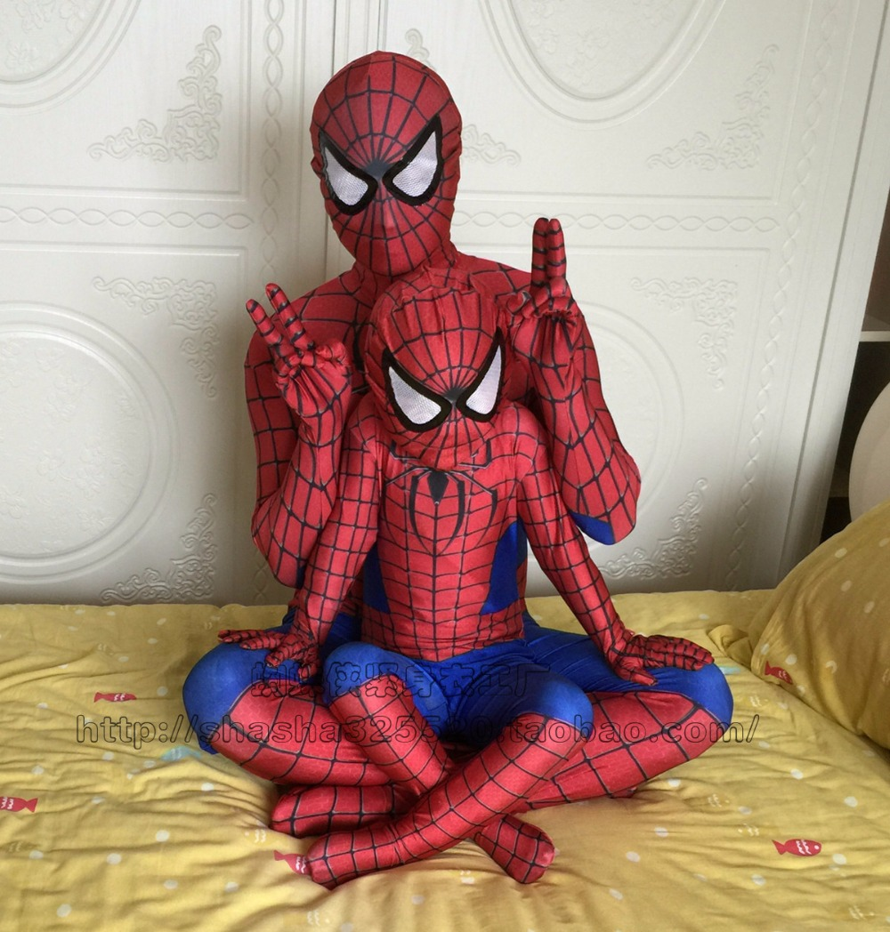 Red Black Spiderman Costume Spider Man Suit Spider-man Costumes Spider-Man Cosplay Clothing for Adults Children Kids
