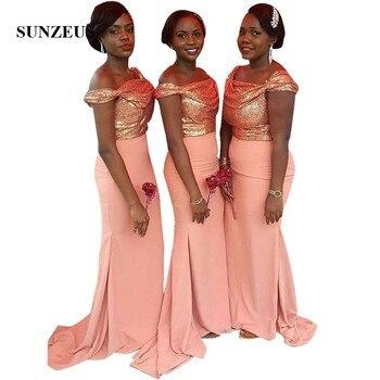 Sparkle Sequins Bridesmaid Dress For Wedding Off Shoulder Straps Long Mermaid Party Dresses Guest Dinner Gowns