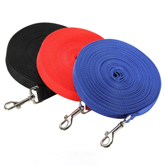 IALJ Top 100ft 30.5 Meters Long Pet Dog Horse Training Leads Lunge Webbing Lead Rope Red
