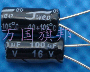 Free Delivery. 100 uf 100 uf electrolytic capacitor 16 v 3.5 RMB 100 only image