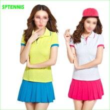 Теннисные костюмы для бадминтона с рубашкой поло и нижним платьем для женщин