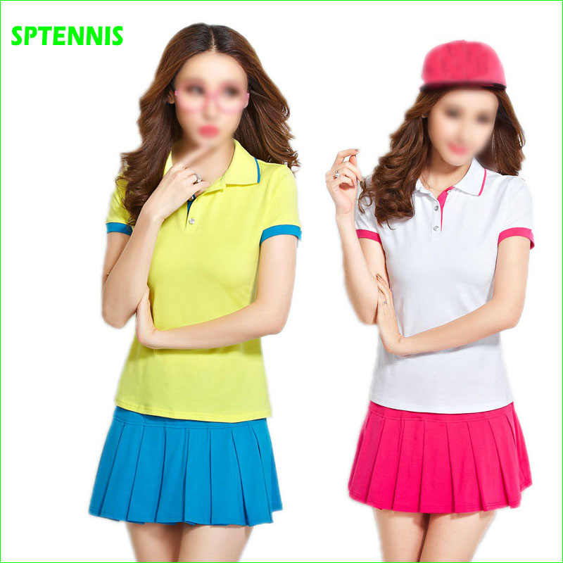 Tennis Badminton Suits with polo shirt and Bottom Dress for Women