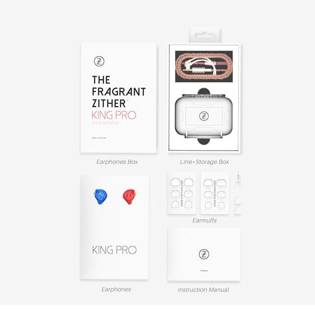 The Fragrant Zither/ KING PRO Neckband HIFI Monitor Earphones, TFZ In Ear sports Hifi Earbuds Bass Earphones Metal earphone 5