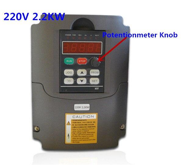Promotion pour 2.2KW 220 V AC variateur de fréquence 400 HZ VFD variateur de fréquence avec potentiomètre bouton AC onduleur