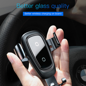 Image 2 - Baseus Wireless Car Charger Phone Holder For iPhone X 8 Plus Samsung S9 S8 Mobile Phone Charger In Car Wireless Charging Holder