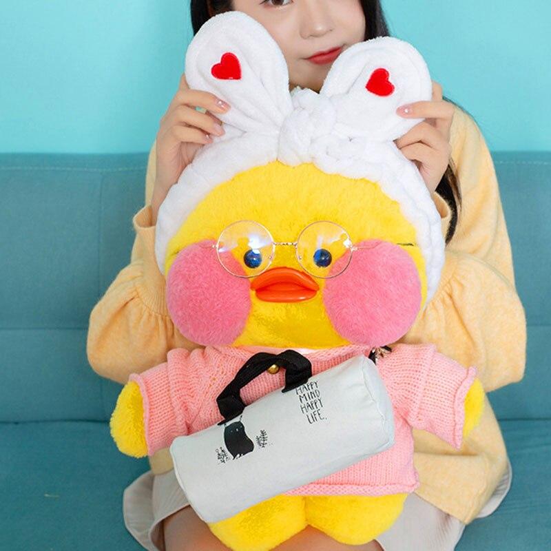 50CM Kawaii LaLafanfan Cafe Duck Plush Toy Cute Animal Duck Soft Stuffed Doll Kids Toys Christmas Birthday Gift For Children