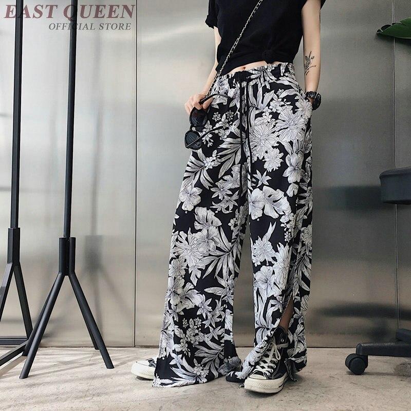 La Streetwear Corea Pantalones Mujeres Plisado A Pantalón Aa3704 De Impresión 2018 Harajuku Ancho 1 Cintura Retro Y Elástico p7Hrwq7dY