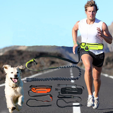 Pet Running Leash With Waist Bag Hands Free Reflective Pets Dog Jogging Collar Rope For Small Medium Big Dogs