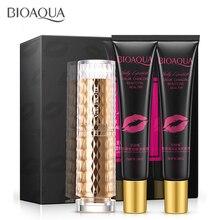 Lip Care Kit Moisturizing Pump Lip plumper Balm Cream Addict,Exfoliating Full Lips Jelly Lipstick Cosmetics Lips Gloss