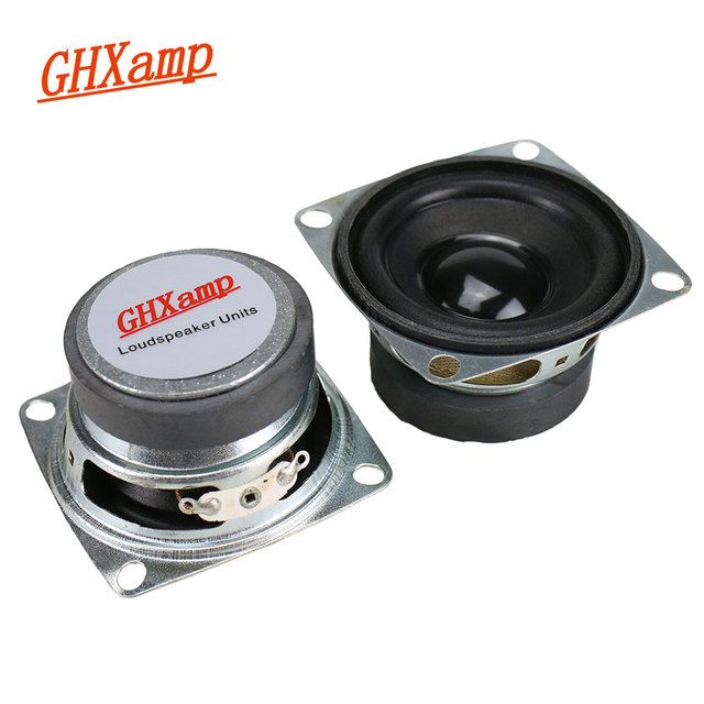 GHXAMP 2 Inch Full Range Speaker Unit 8ohm 3W Bluetooth Speaker DIY Square Tweeter Mid Woofer Loudspeaker Bubble  2PCS