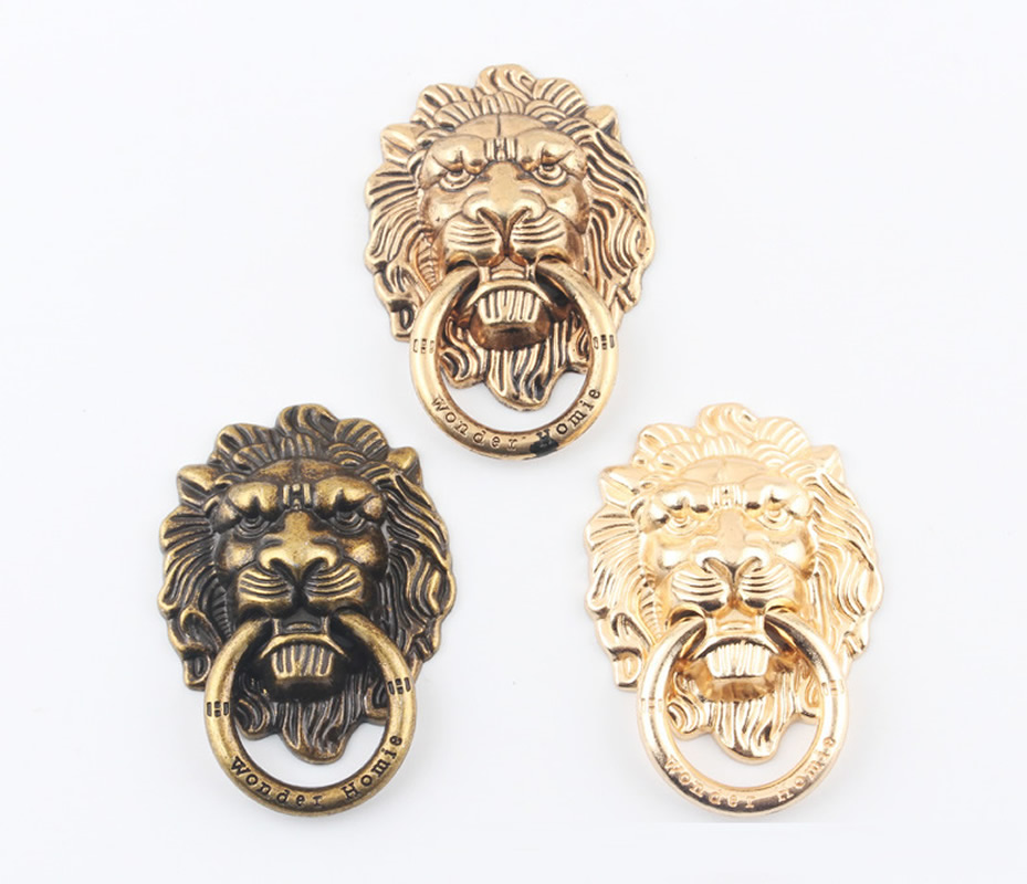 Hessy <font><b>360</b></font> Degree Lion Head <font><b>Metal</b></font> <font><b>Finger</b></font> <font><b>Ring</b></font> Smartphone Stand <font><b>Holder</b></font> Mobile Phone <font><b>Holder</b></font> Stand for IPhone Xiaomi Huawei Samsung image
