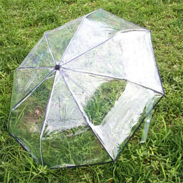 Automatic Transparent Paraguas folding Umbrella Rain Women Men Sun Rain Auto Paraguas Compact Windproof Style Clear umbrella