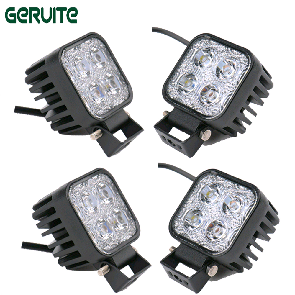 4pcs 6 Inch 12W 12V 24V LED Work Light Spot/Flood Square LED Offroad Light Lamp Worklight for Off-road Motorcycle Car Truck casio casio gd x6900mc 5e