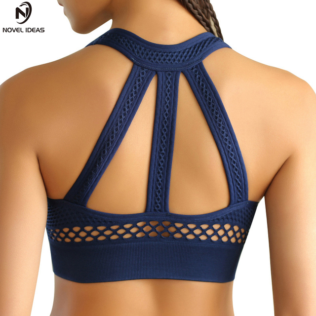 2a30651350 Novel ideas Sexy Backless Sport Bras Women Quick Dry Fitness Yoga Top  Clothing Yoga Shirts Sports Vest Jerseys Gym Running Bras