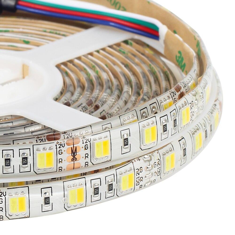 CCT LED streifen 5050 2 in 1 Weiß + Warm weiß 60 LEDs/m, 5 mt 12 v 5050 LED Streifen Licht Farbe Temperatur einstellbar CWW Streifen Licht
