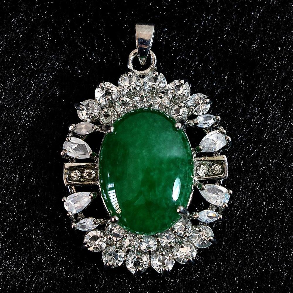 Diy Bouton De Meuble ᐂmode malaisie vert calcédoine pierre jades 28x37mm ovale