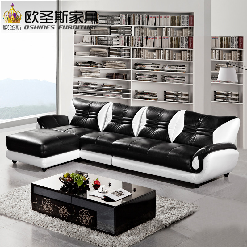 turkish sofa furniture black and white modern l shaped corner shiny leather sectional sofa set designs for drawing room 621 morden sofa leather corner sofa livingroom furniture corner sofa factory export wholesale c59