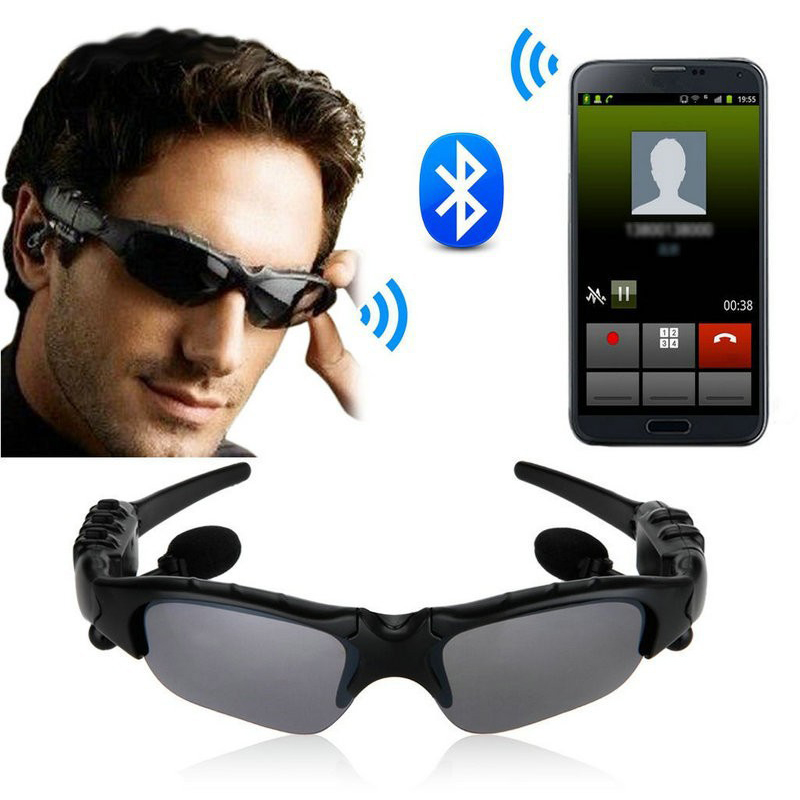 Sunglasses Bluetooth Headset Outdoor Sport Glasses Earbuds Music with Mic Stereo Wireless Headphone for iPhone Samsung xiaomi bluetooth wireless music stereo headset with mic for iphone and samsung 300614