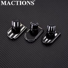MACTIONS Seat Bolt TAB สกรูลูกบิดสำหรับ Harley Sportster Dyna Touring Ultra ถนน Fatboy King Softail Softail FLHR FLHX(China)