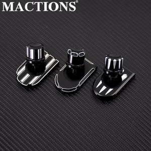 MACTIONS Seat Bolt Tab Screw Mount Knob Cover For Harley Sportster Dyna Touring Ultra Fatboy Road King Softail Softail FLHR FLHX(China)