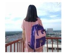 Корейский ulzzang Vintage в японском стиле Harajuku контрастного цвета рюкзаки все матч Повседневная Подростковая студент в консервативном стиле школьная сумка
