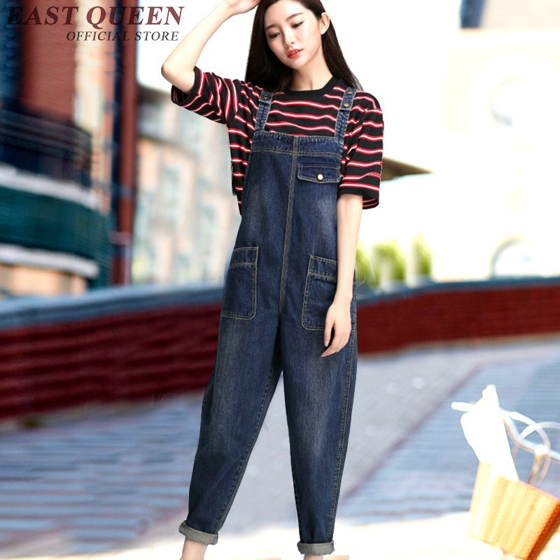 EASTQUEENK Store Female denim jumpsuit long sleeve denim jumpsuit women new arrivals female jumpsuits for women 2017  KK329