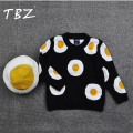 2016 Autumn Winter Sweater Baby Girl Clothes Child Cotton Pullover Sweater Children Casual Baby Omelette Sweater Kids Choses Egg