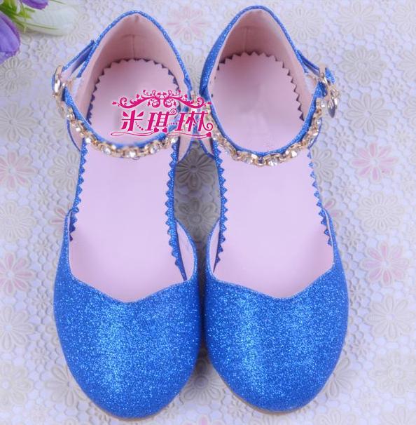 Chaussure enfant High heeled girl party elsa shoes princess 2015 sandalias  sapato infantil menina children shoes female 08-in Sandals from Mother    Kids on ... 20b3da8de165
