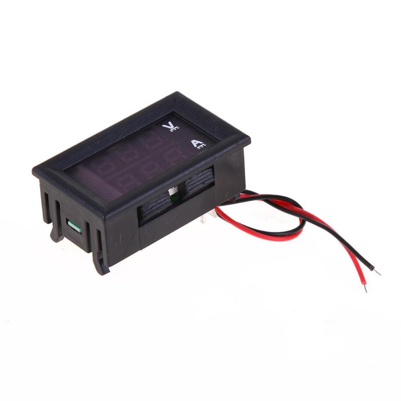 Plastic Electromobile Car Battery Car Motorcycle Battery Voltage Meter 0-100V Voltammeter Black