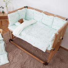 Детские комплекты постельного белья, новинка, для новорожденного ребенка, защита головы, безопасная кровать, бампер, подушка для малыша, спальный принт, младенческий бампер для детской кроватки