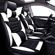 (Anteriore + Posteriore) DELLUNITÀ di elaborazione di Cuoio seggiolino per auto copre Per Peugeot 407 308sw 607 307CC 3008 206CC 307SW 4008 posti auto protezione auto accessorie